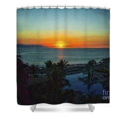 Sunset In Vallarta  ... Shower Curtain by Chuck Caramella