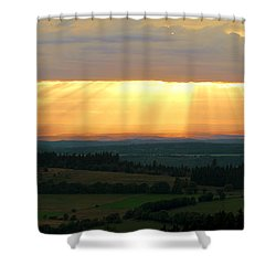Sunset In Vogelsberg Shower Curtain
