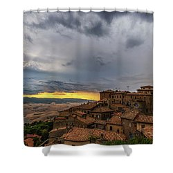 Sunset In Volterra Shower Curtain