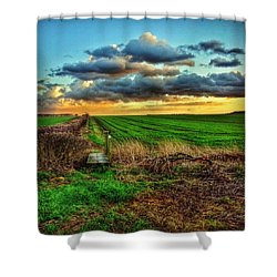 #sunset #instagood #photooftheday Shower Curtain by Vicki Field