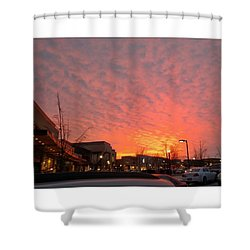 #sunset #instamood #instagood #crop Shower Curtain by Charles DesLauriers