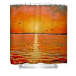 Sunset Shower Curtain by John  Nolan