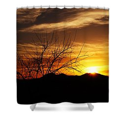 Shower Curtain featuring the photograph Sunset by Joseph Frank Baraba