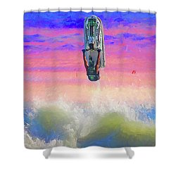 Sunset Jumper Shower Curtain by Alice Gipson