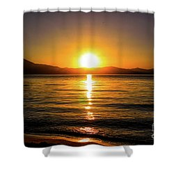 Sunset Lake 1 Shower Curtain
