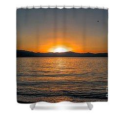 Sunset Lake 3 Shower Curtain