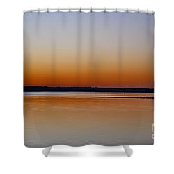 Shower Curtain featuring the photograph Sunset Lake Texhoma by Diana Mary Sharpton