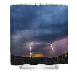 Sunset Lightning Shower Curtain