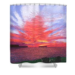 Sunset Lovers Shower Curtain