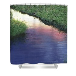 Sunset Marsh Series Shower Curtain