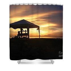 Sunset Massage Shower Curtain