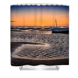 Sunset, Meols Beach Shower Curtain