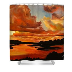Sunset Shower Curtain by Michael Kulick