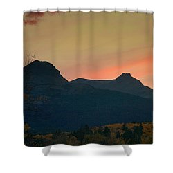 Sunset Mountain Silhouette Shower Curtain