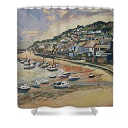 Sunset Mousehole Shower Curtain