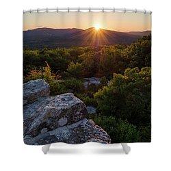 Sunset, Mt. Battie, Camden, Maine 33788-33791 Shower Curtain