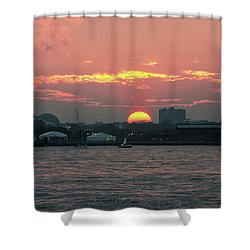 Sunset Nyc Harbor Shower Curtain
