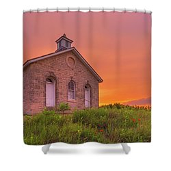 Shower Curtain featuring the photograph Sunset Of 1882 by Darren White
