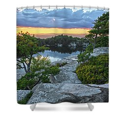 Sunset Of Contentment Shower Curtain