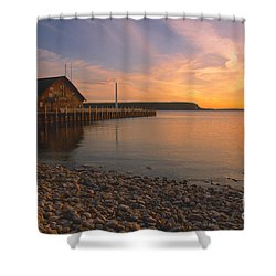 Sunset On Anderson's Dock - Door County Shower Curtain