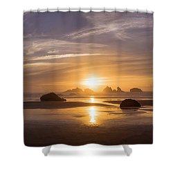Sunset On Bandon Beach Shower Curtain