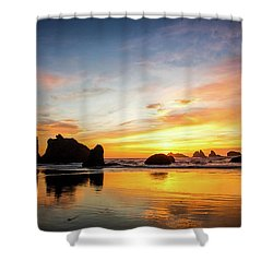 Sunset On Bandon Shower Curtain