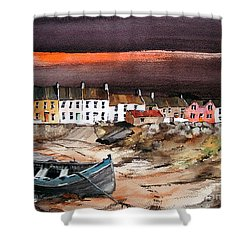 Sunset On Barna, Galway Shower Curtain