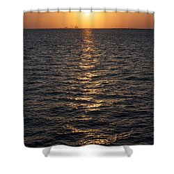 Sunset On Bay Shower Curtain