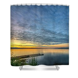 Sunset On Boulevard Bluffs Shower Curtain