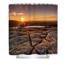 Sunset On Cadillac Mountain Shower Curtain