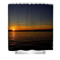 Sunset  On Cape  Ann Shower Curtain