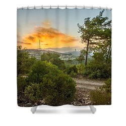 Sunset On Carmel Mountain 2 Shower Curtain