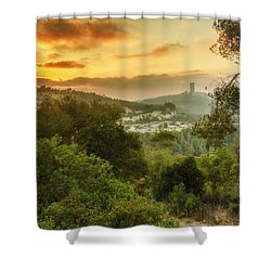 Sunset On Carmel Mountain Shower Curtain