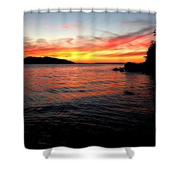 Sunset On Clayton Beach Shower Curtain by Karen Molenaar Terrell