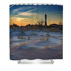 Sunset On Fire Island Shower Curtain by Rick Berk