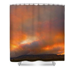 Sunset On Fire Shower Curtain by James BO  Insogna