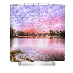 Sunset On Flint Creek Shower Curtain