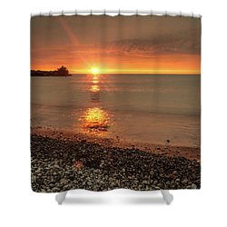 Sunset On Huron Lake Shower Curtain