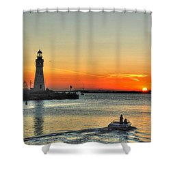 Sunset On Lake Erie Shower Curtain