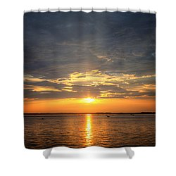 Shower Curtain featuring the photograph Sunset On Lake Hartwell by Lynne Jenkins