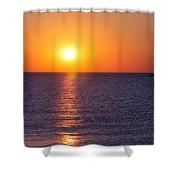 Sunset On Lake Michigan Shower Curtain by Bruce Patrick Smith