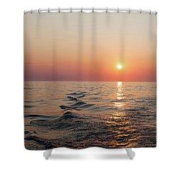 Sunset On Lake Michigan Shower Curtain