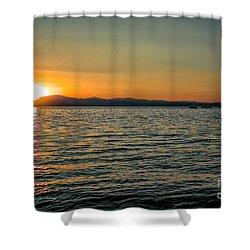 Sunset On Left Shower Curtain