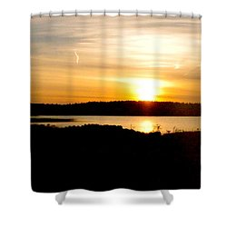 Sunset On Morrison Beach Shower Curtain