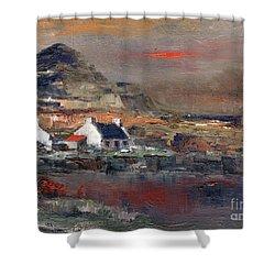Sunset On Mount Errigal, Dunegal Shower Curtain