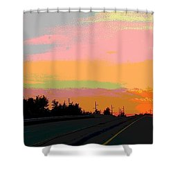 Sunset On Ol' 66 Shower Curtain