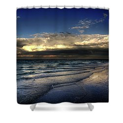 Sunset On Sanibel Shower Curtain by Chrystal Mimbs