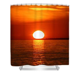 Sunset On Superior Shower Curtain