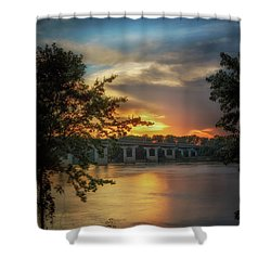 Sunset On The Arkansas Shower Curtain