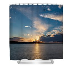 Sunset On The Baltic Sea Shower Curtain